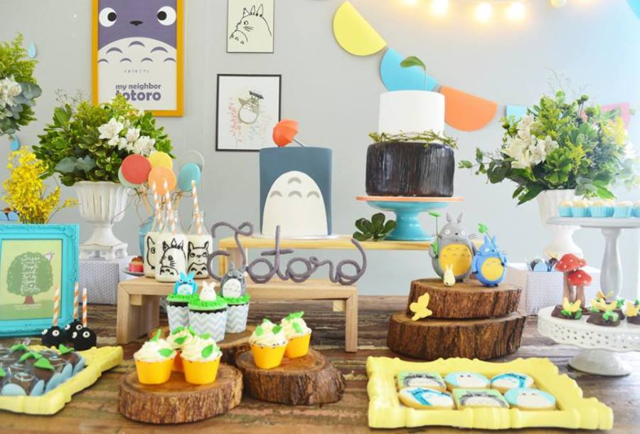 Colorful Totoro Birthday Party - Birthday Party Ideas & Themes