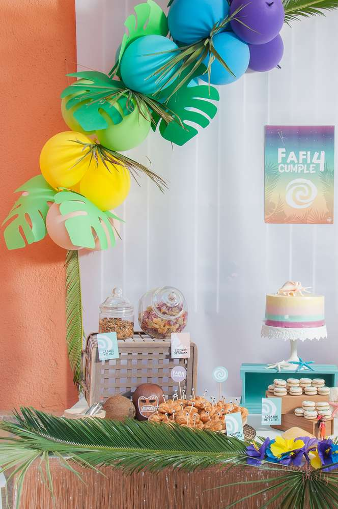 moana tropical birthday party