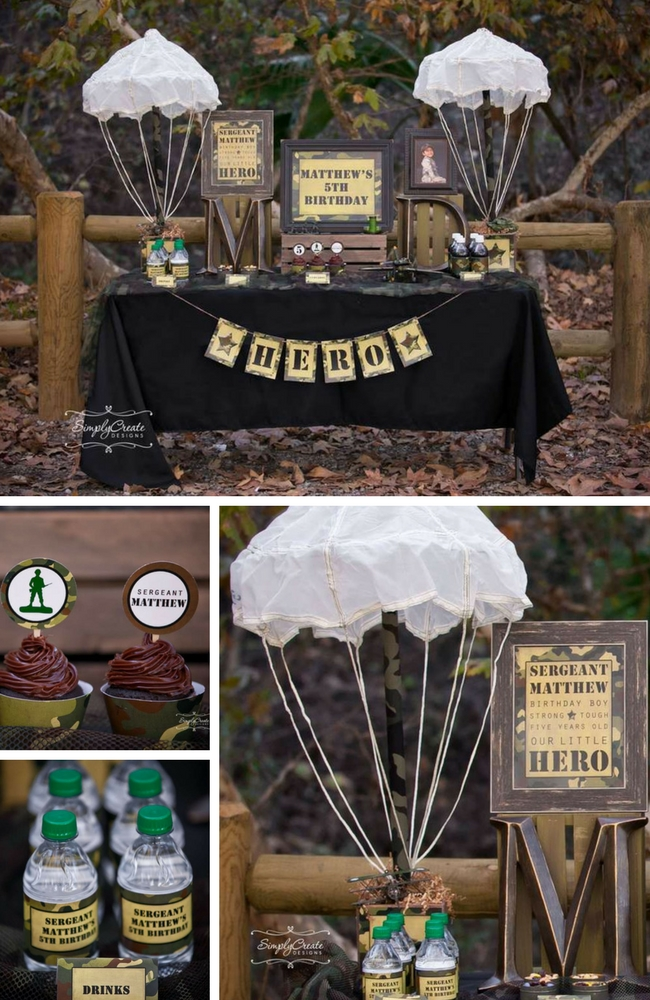 Camo Military Birthday Inspiration Birthday Party