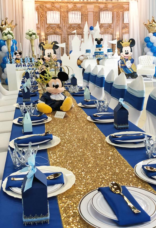 Mickey The Prince First Birthday Birthday Party Ideas
