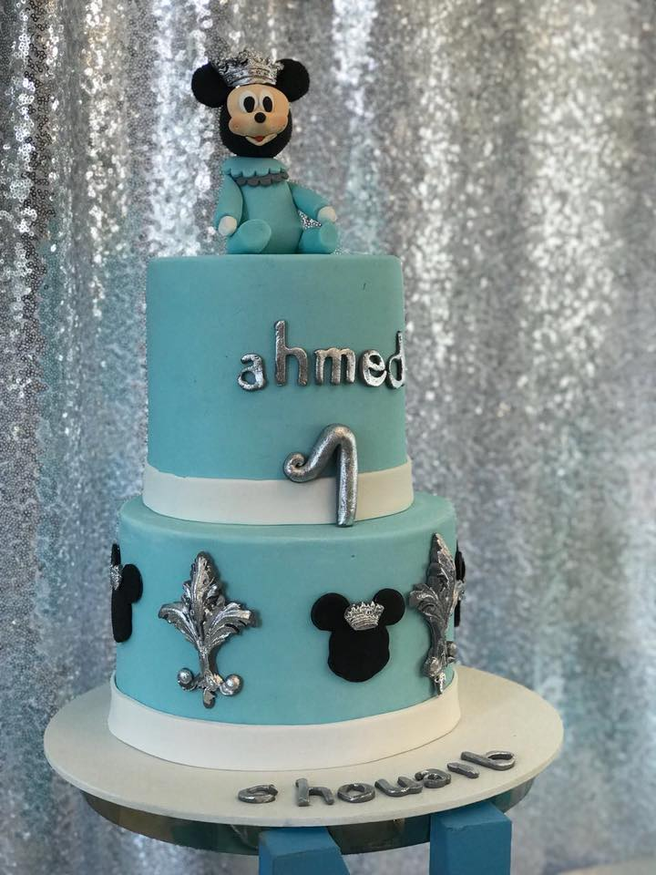 Sky Blue And Silver Baby Mickey Mouse First Birthday Birthday Party Ideas For Kids