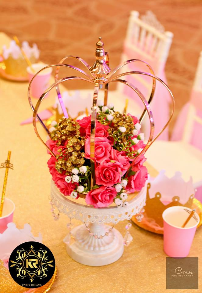 Golden-Princess-Castle-Birthday-Bright-Flowers