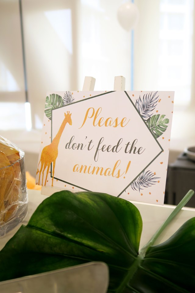 please dont feed animal sign