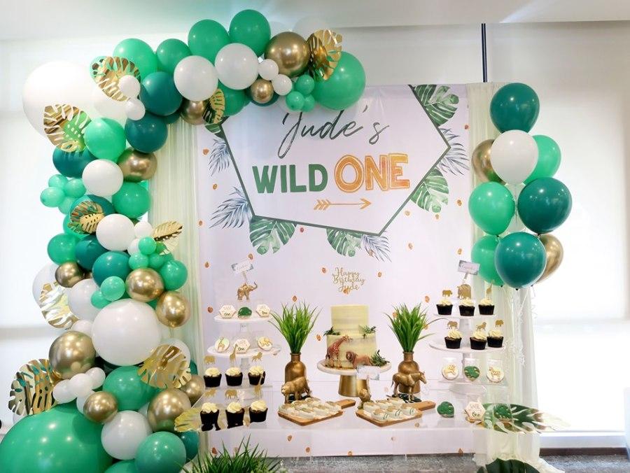 safari animal birthday backdrop