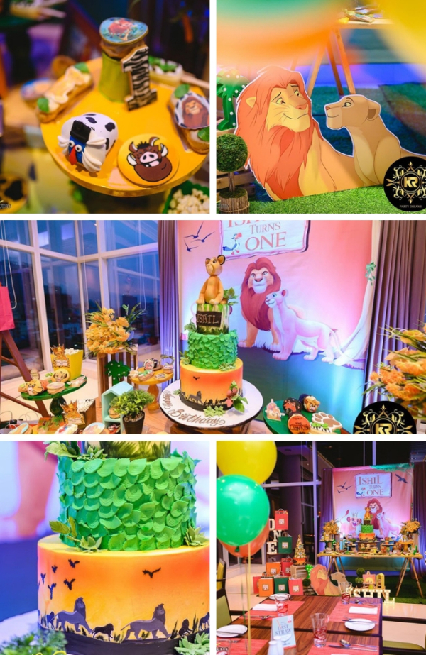 Fabulous Hakuna Matata Lion King Birthday Tablescape Funny Birthday Cards Online Fluifree Goldxyz