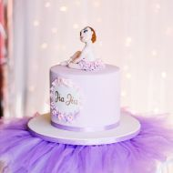 Ballerina Topped Cake