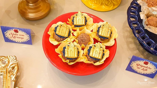Beauty and beast gold castle cookies