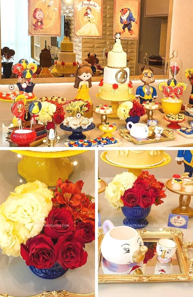 Enchanted Beauty and the Beast Party tablescape