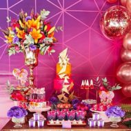 Rose Gold and Pink Geometric Birthday