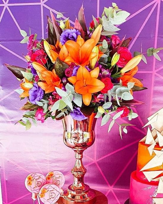 flores de colores vibrantes