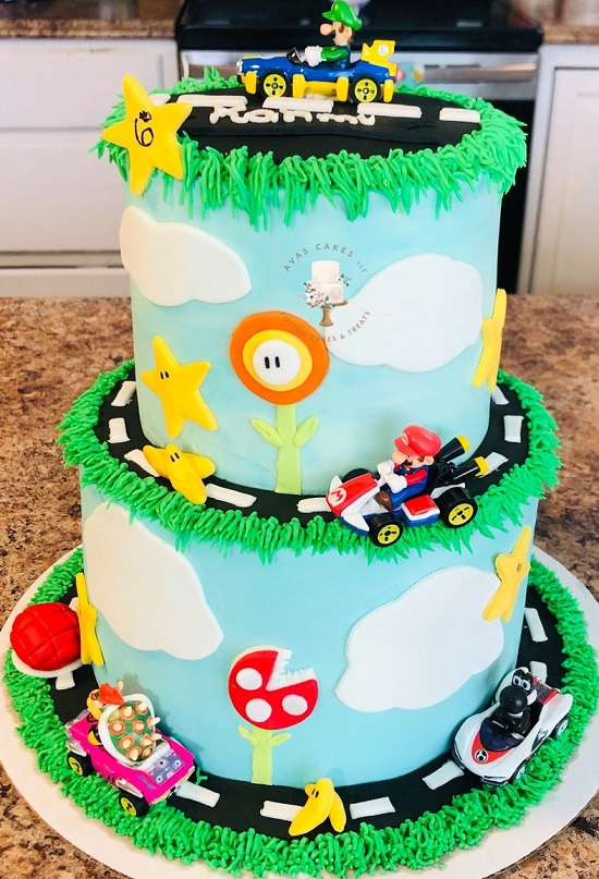 Mario Kart Inspired Cake Toppers