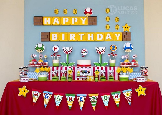 Super Mario Inspired Birthday Decorations