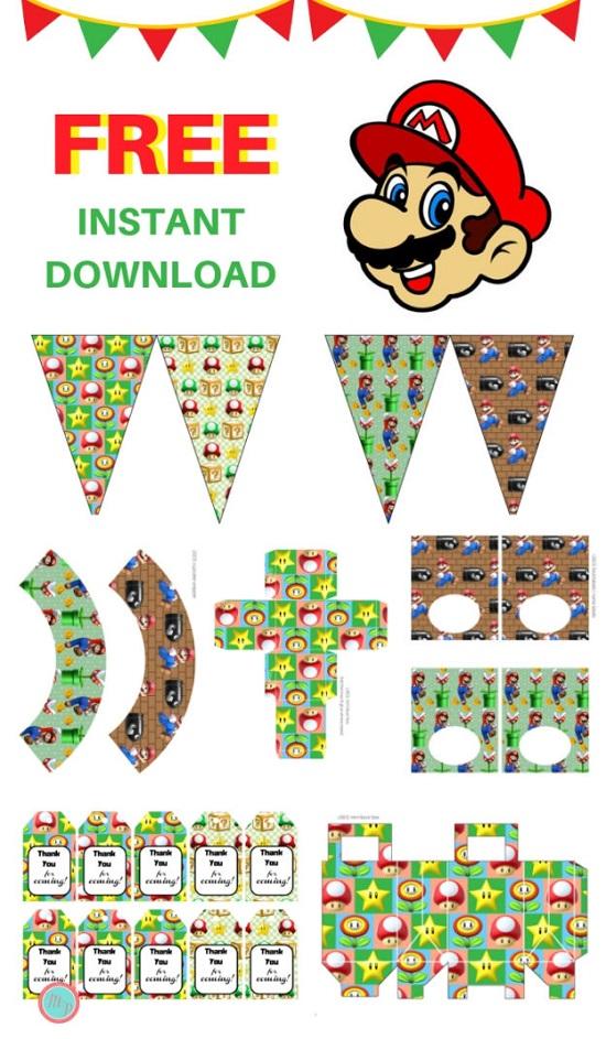 free mario party printable